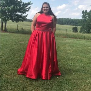 Sherri Hill Red Prom Dress